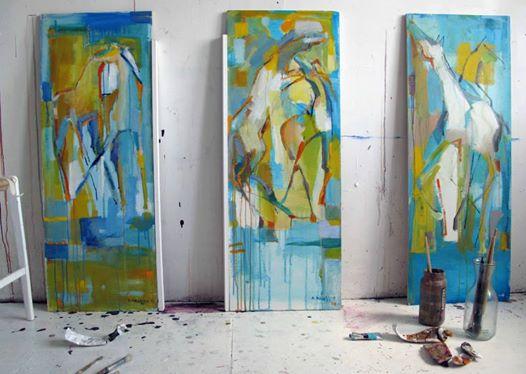 Konstnär Anne Hansson ateljé